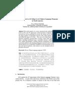 CLTA 2012 Survey of College-Level Chinese Language Programs