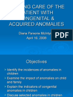 Care of the Patient With Congenital Anomalies 3