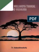 Mashhoor Mullakoya Thangal and Vadakara