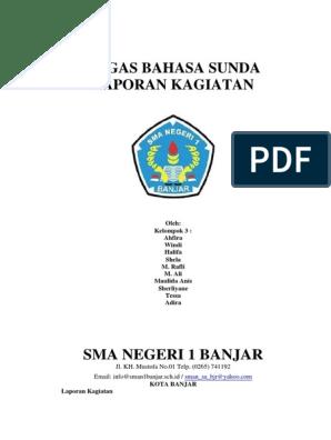 Contoh Laporan Kegiatan Lomba Dalam Bahasa Sunda Temukan Contoh