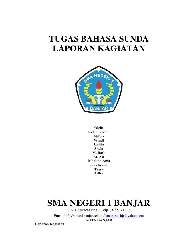 Laporan Kagiatan Bahasa Sunda