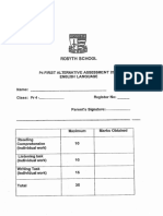 2014 Primary 4 CA1 English Rosyth
