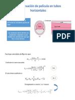 Condensación de Película en Tubos Horizontales