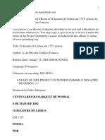 Voltaire - O Desastre de Lisboa