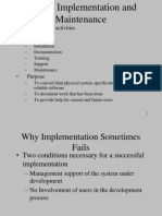Chapter 13 System Implementation and Maintenance(ForBCA)