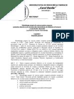 Metodologie Proprie Concurs Trimisa La MEN in Martie 2017