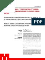 EL MUSEO DE LA MEMORIA Y EL MUSEO NACIONAL DE COLOMBIA