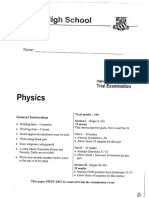 2016 Physics Trial HSC Exam