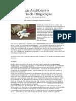 A Psicologia Analítica e o Tratamento Da Drogadição