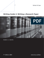 Leicester School of Law Writing a Research Paper Guide