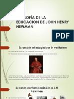 Presentacion de La Filosofia de La Educacion de Newman