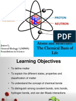 MF009 1A Atoms and Molecules - The Chemical Basis of Life L2