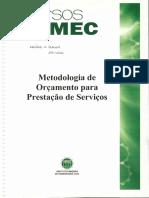 Apostila - Cursos IMEC - Metodologia de Orçamento Para Prestaçao de Serviços