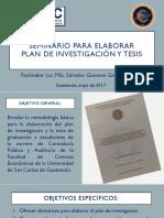 SeminarioTesis MAYO 2017