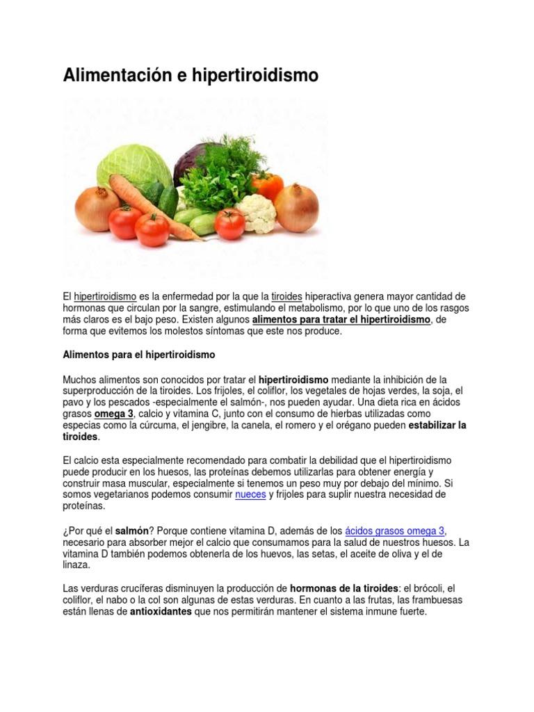 que alimentos consumir hipotiroidismo