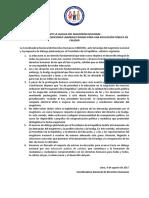 Pronunciamiento Huelga Nacional Magisterial - 2017
