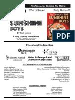 PublicTheatre the Sunshine Boys Study Guide