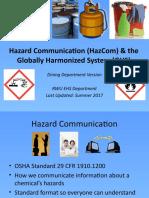 Dining GHS HazCom Summer 2017