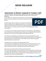 Press Release Response to Trump in Mexico