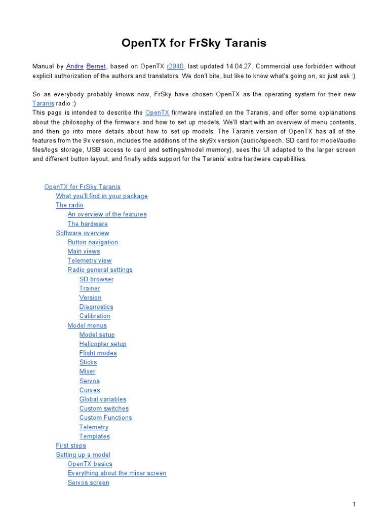 En OpenTX for FrSky Taranis | Variable (Mathematics
