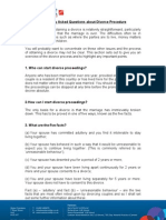 Frequently Asked Questions About Divorce Procedure