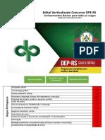 Edital Verticalizado DPE RS Conhecimentos Básicos Para Todos Os Cargos