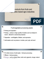 Byproducts from Fruit and Vegetable Processing