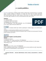 USL - Sanluri (Servizio Igiene Pubblica)