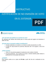 Instructivo Justificacion No Emision Voto Exterior