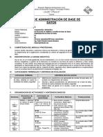 Sílabo+ADMINISTRACIÓN+DE+BASE+DE+DATOS