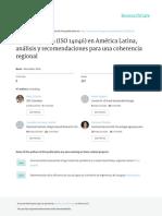 Huella Agua i So 14046 America Latin A