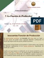 7. La Funcion de Produccion