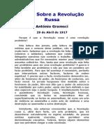 Notas Sobre a Revolução Russa