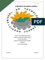 Prácticas de Laboratorio de Química Analítica 7 y 8