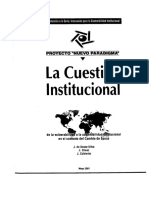 La Cuestion Institucional