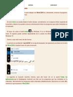 Word Inicio y Primer Documento