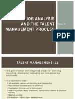 Job Analysis and Talent Management