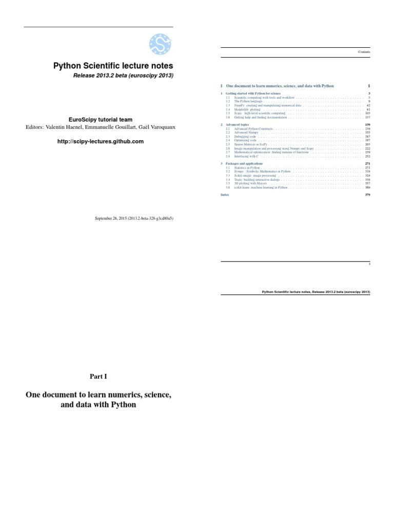 Python Scientific | Python (Programming Language) | Matlab