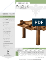 Geek Chic Vizier Gaming Table Pricing Guide