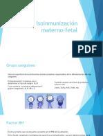 13. Isoinmunización Materno Fetal
