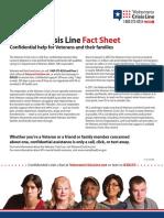 Veterans Crisis Line fact sheet