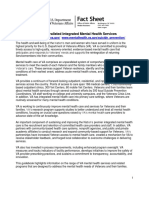 U.S. Department of Veterans Affairs mental health fact sheet