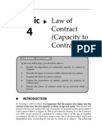 Topic 4 Law of Contract (Capacity to Contract)