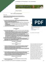 Pasal Krusial Pelanggaran UU, PP Tentang Pengairan - Yayasan Lembak Bengkulu