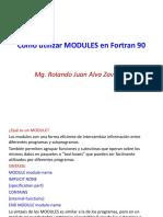 Como Utilizar MODULES en Fortran 90
