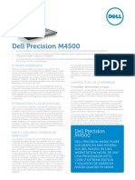 Dell Precision m4500 Spec Sheet Es
