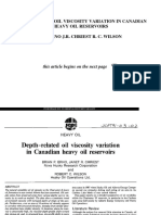 Depth Related Oil Viscosity Variation InCanadian Hevay Oil ReservoirsPETSOC-91!03!02-P[1]