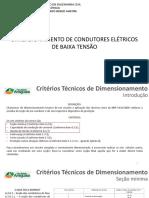 Aula - Dimensionamento de Condutores Elétricos