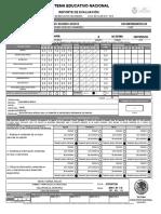 Reporte de Evaluacion Anverso(Frente) 1 A