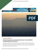 03-08-17 Parlatino expresa su preocupación por nueva política medioambiental de EE